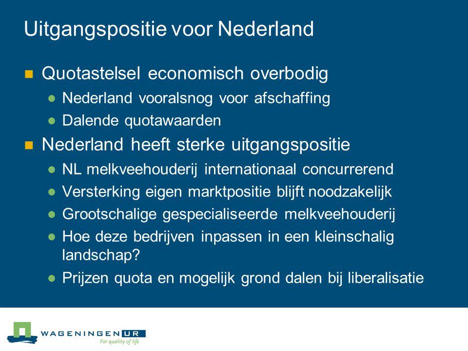 Uitgangspositie voor Nederland