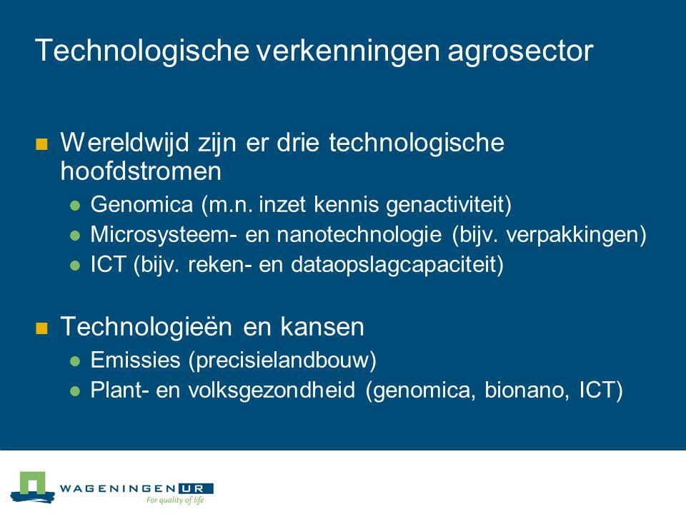 Technologische verkenningen agrosector