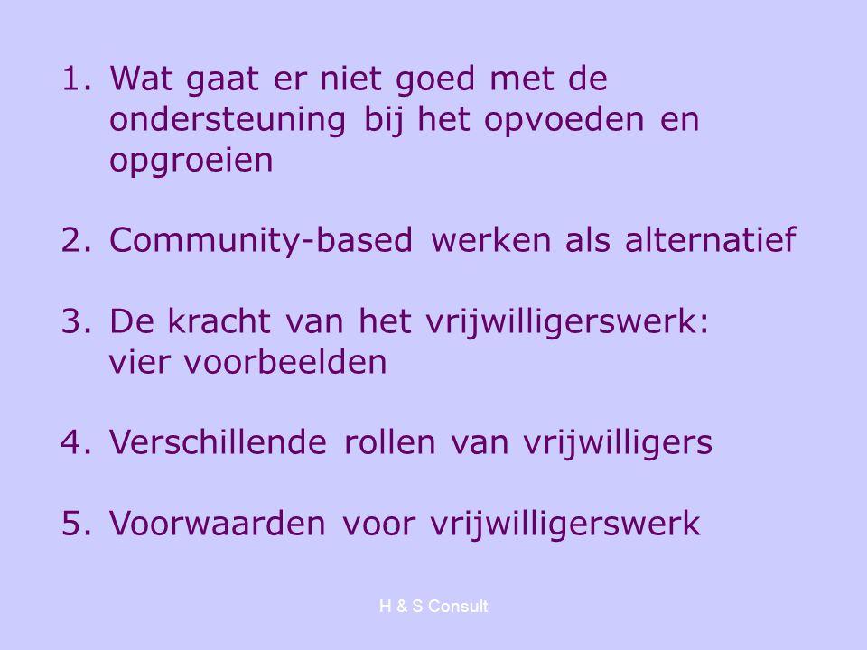 Community-based werken als alternatief