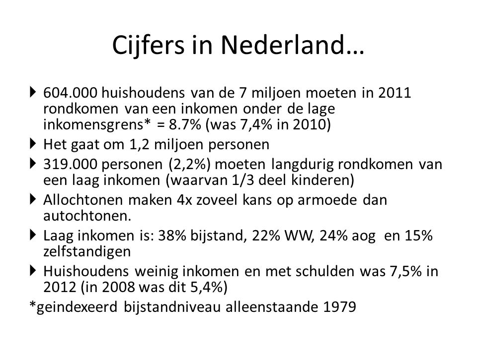 Cijfers in Nederland…