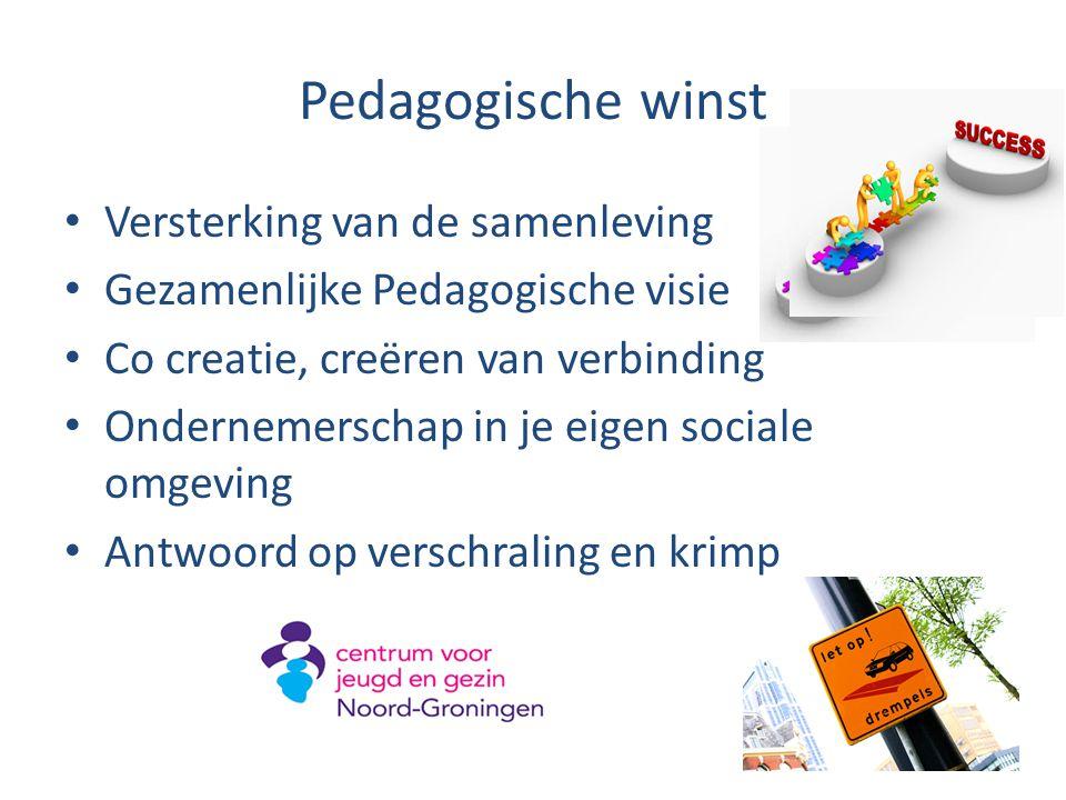 Pedagogische winst Versterking van de samenleving
