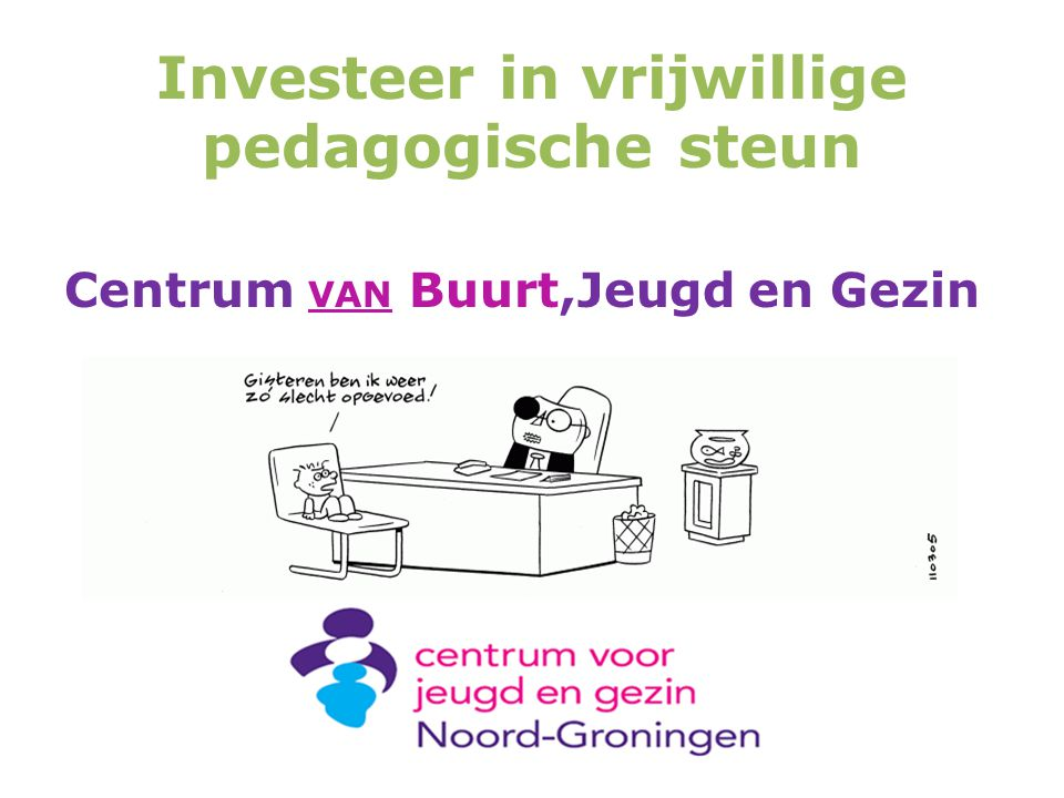 Investeer in vrijwillige pedagogische steun