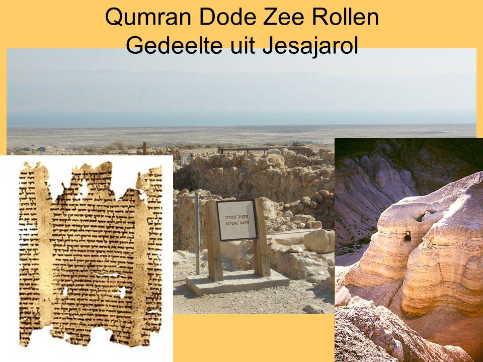 Qumran Dode Zee Rollen Gedeelte uit Jesajarol
