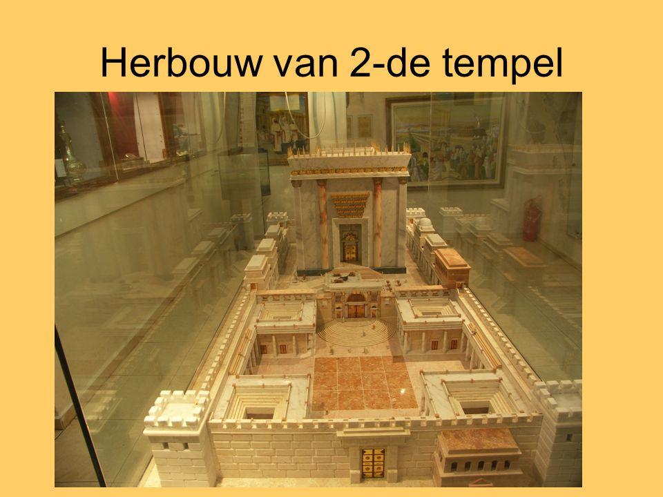 Herbouw van 2-de tempel