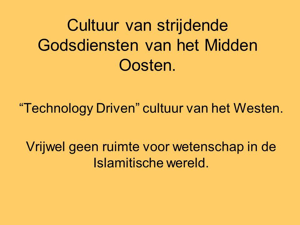 Cultuur van strijdende Godsdiensten van het Midden Oosten.