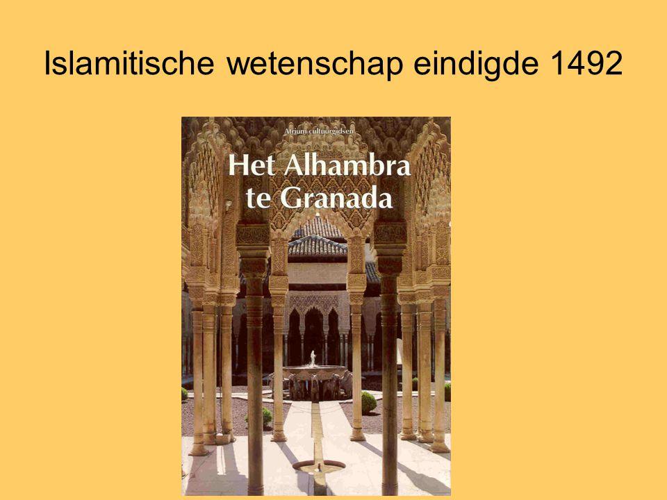 Islamitische wetenschap eindigde 1492