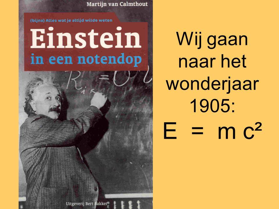 Wij gaan naar het wonderjaar 1905: E = m c²
