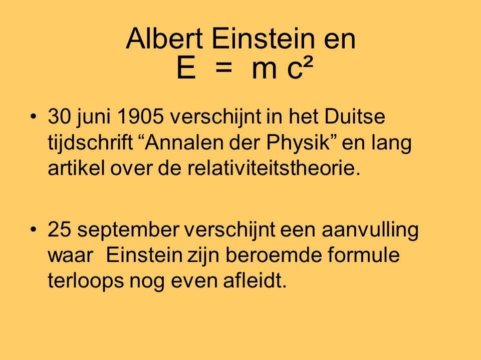 E = m c² Albert Einstein en