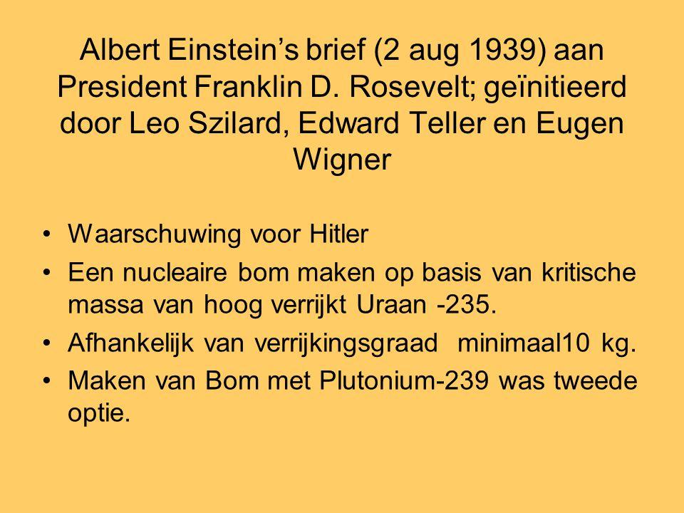 Albert Einstein's brief (2 aug 1939) aan President Franklin D