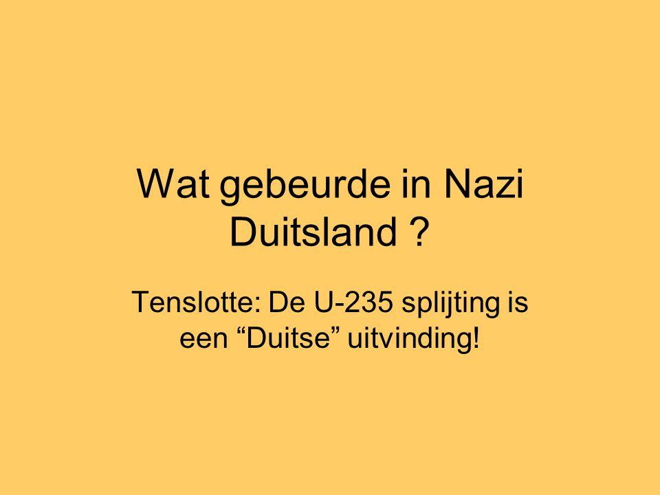 Wat gebeurde in Nazi Duitsland