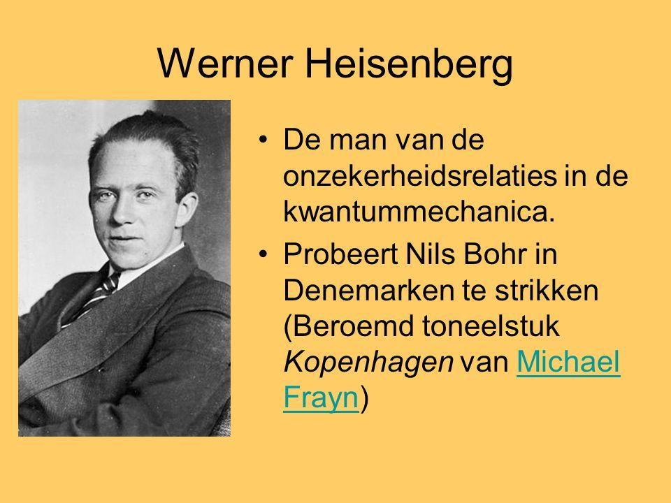 Werner Heisenberg De man van de onzekerheidsrelaties in de kwantummechanica.