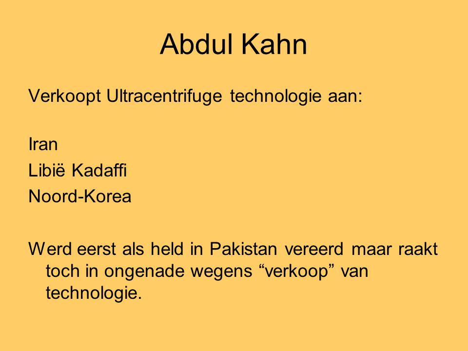 Abdul Kahn Verkoopt Ultracentrifuge technologie aan: Iran