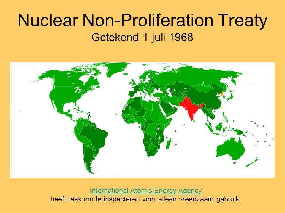 Nuclear Non-Proliferation Treaty Getekend 1 juli 1968