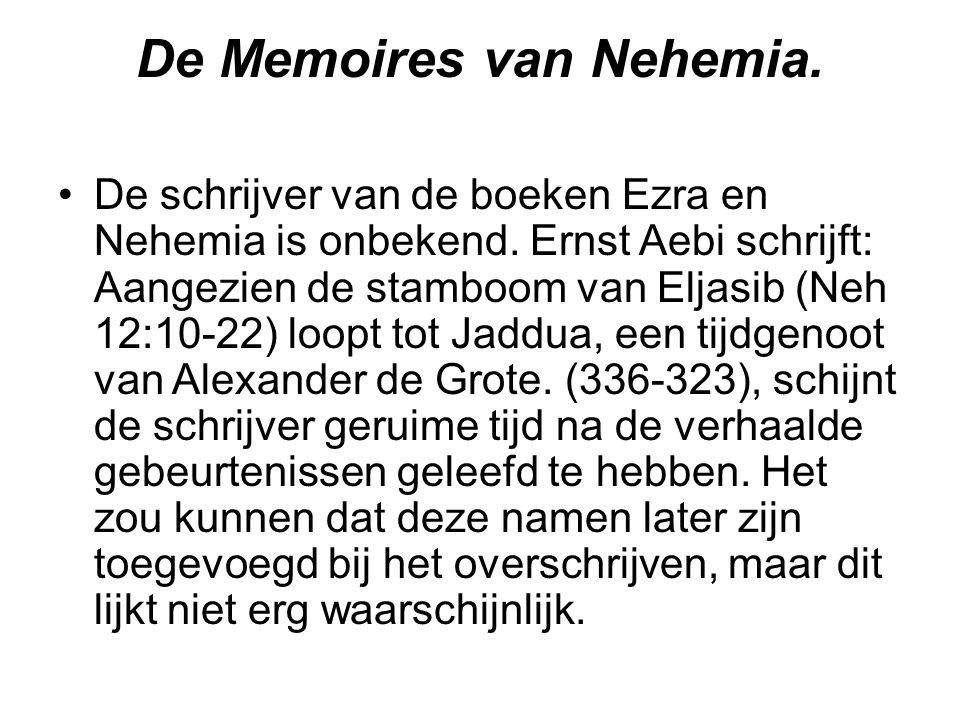 De Memoires van Nehemia.