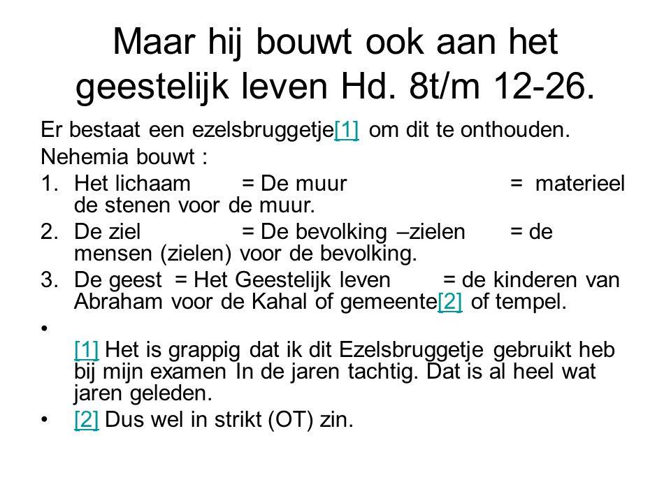 Maar hij bouwt ook aan het geestelijk leven Hd. 8t/m 12-26.