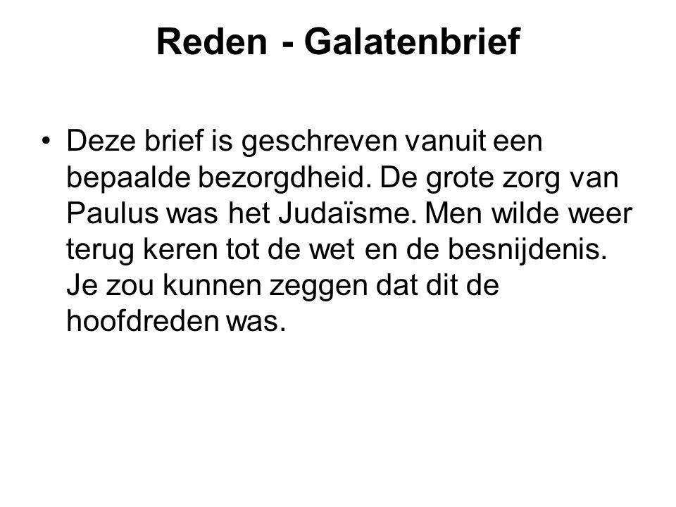Reden - Galatenbrief
