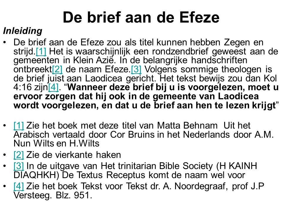 De brief aan de Efeze Inleiding