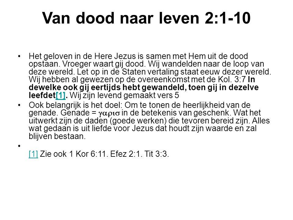 Van dood naar leven 2:1-10