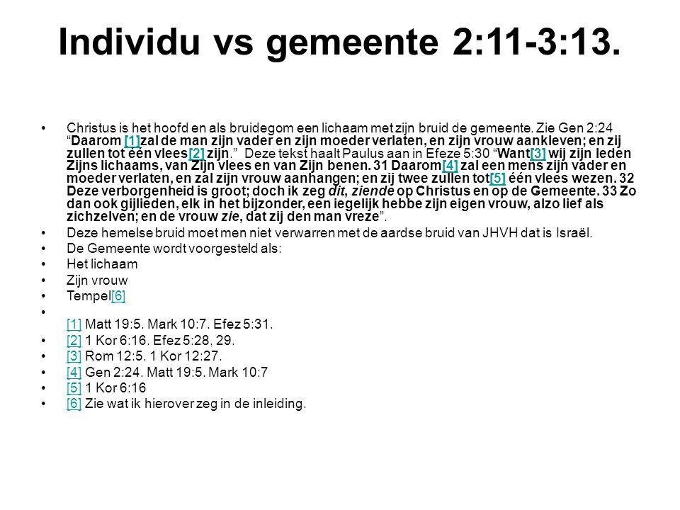 Individu vs gemeente 2:11-3:13.