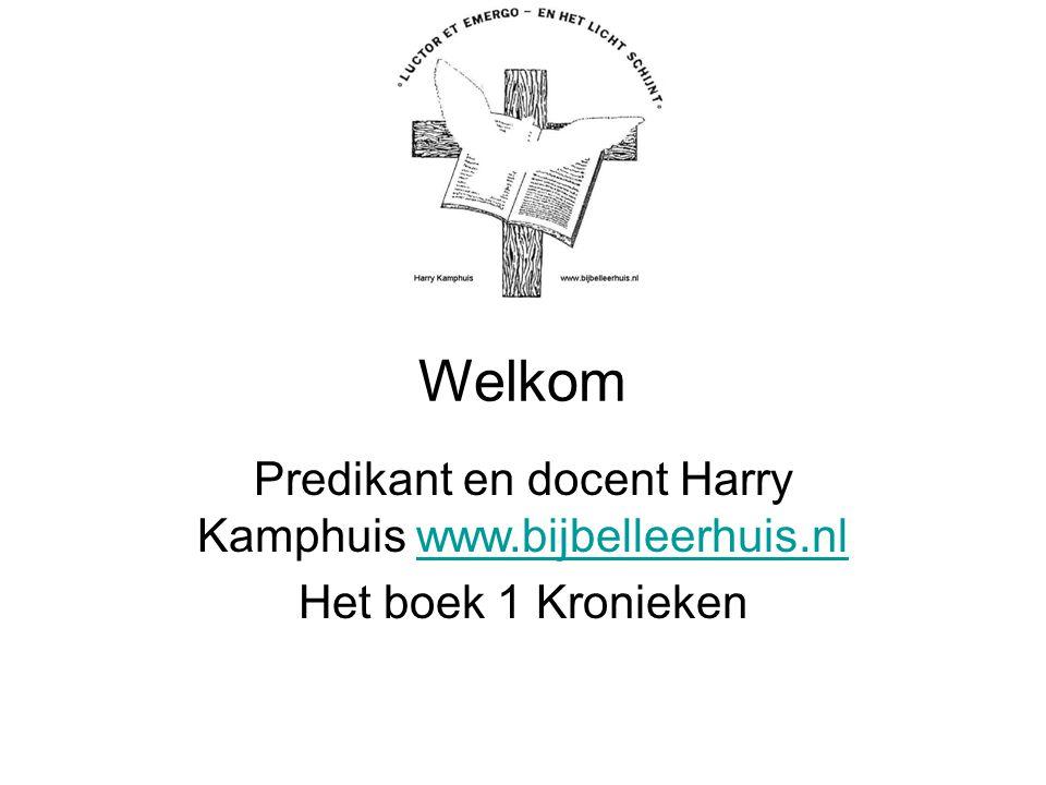 Predikant en docent Harry Kamphuis www.bijbelleerhuis.nl