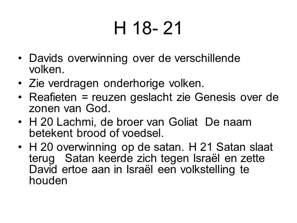 H 18- 21 Davids overwinning over de verschillende volken.