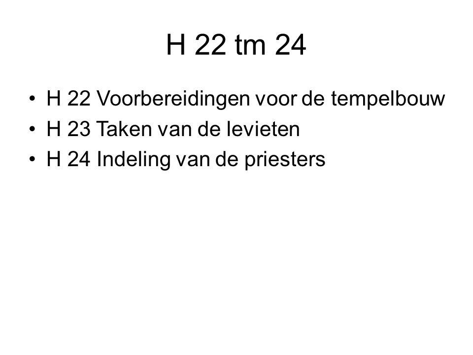 H 22 tm 24 H 22 Voorbereidingen voor de tempelbouw
