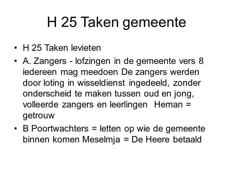 H 25 Taken gemeente H 25 Taken levieten
