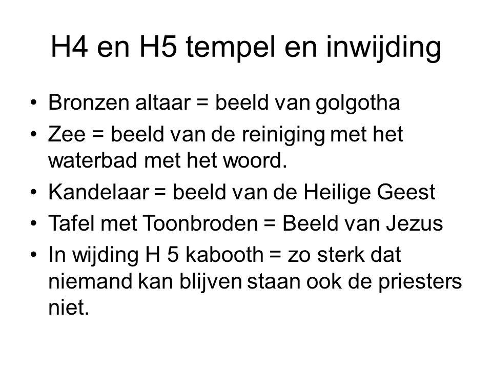 H4 en H5 tempel en inwijding