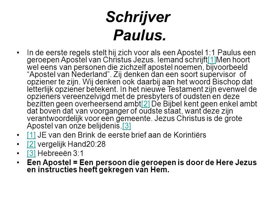 Schrijver Paulus.