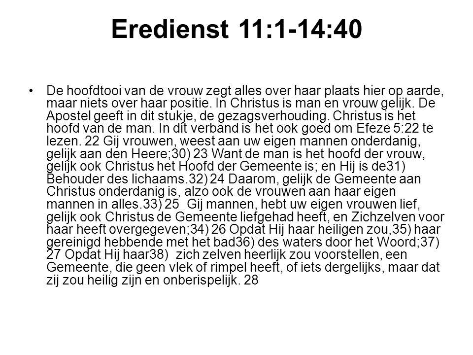 Eredienst 11:1-14:40