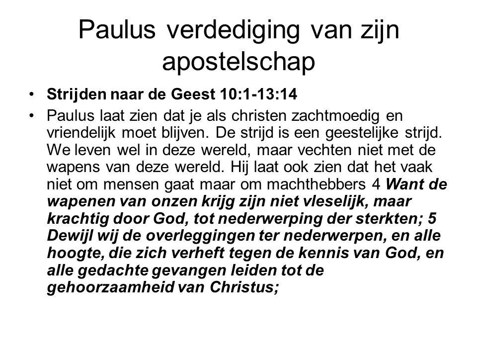 Paulus verdediging van zijn apostelschap