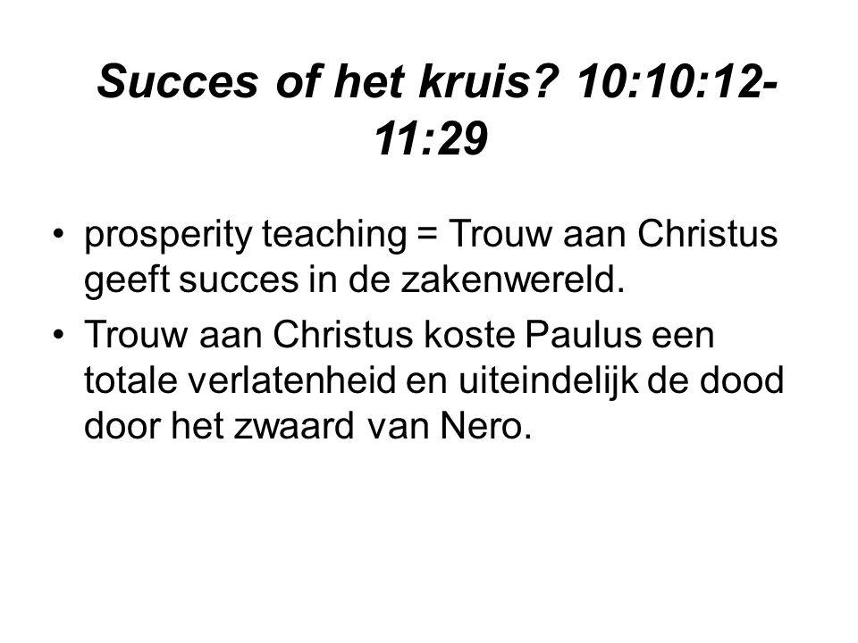 Succes of het kruis 10:10:12-11:29