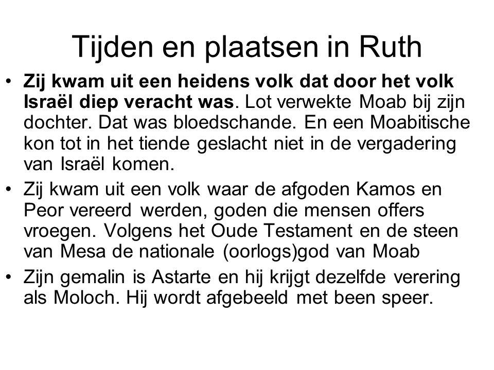Tijden en plaatsen in Ruth