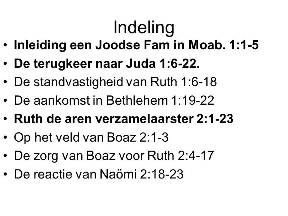 Indeling Inleiding een Joodse Fam in Moab. 1:1-5