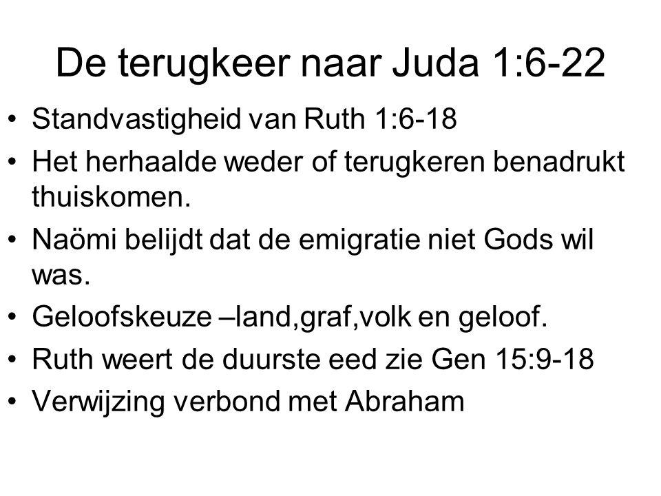 De terugkeer naar Juda 1:6-22