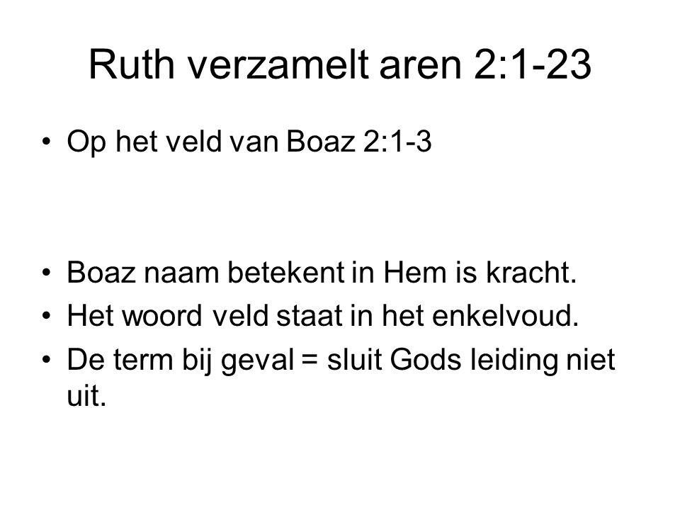 Ruth verzamelt aren 2:1-23 Op het veld van Boaz 2:1-3