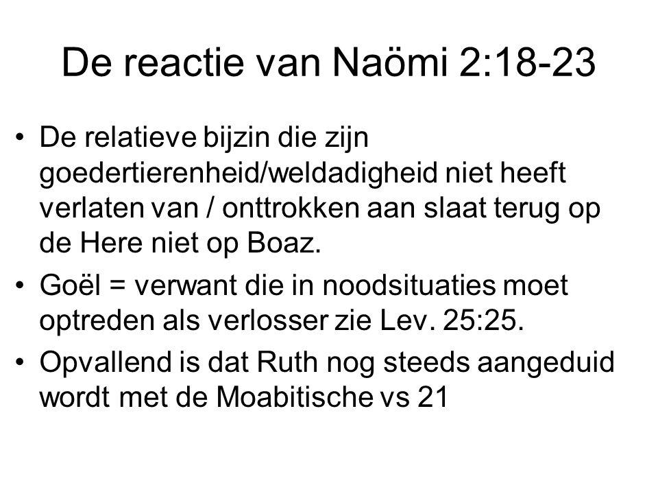 De reactie van Naömi 2:18-23