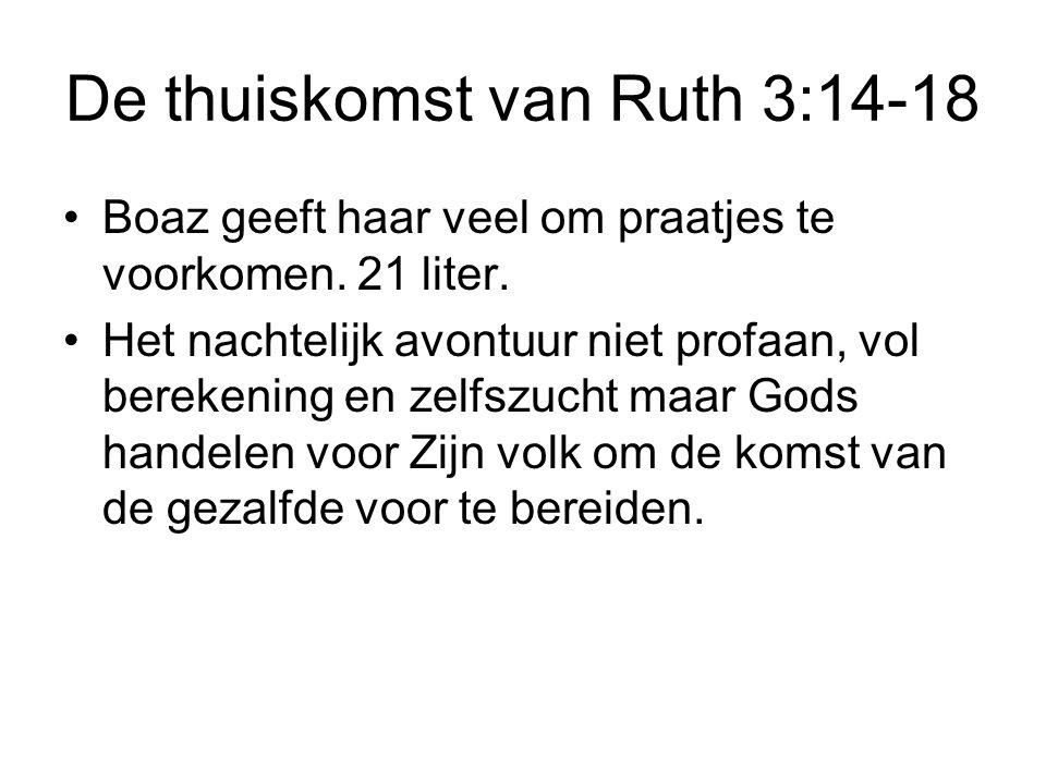 De thuiskomst van Ruth 3:14-18