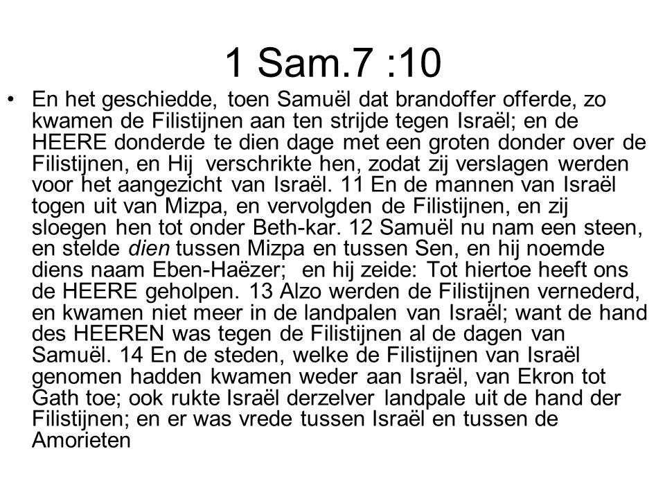 1 Sam.7 :10