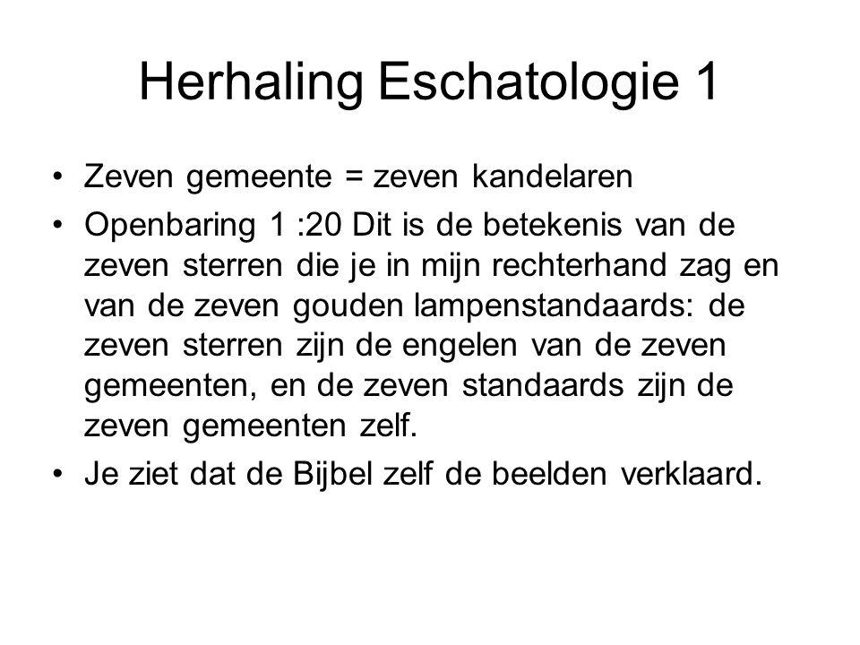 Herhaling Eschatologie 1