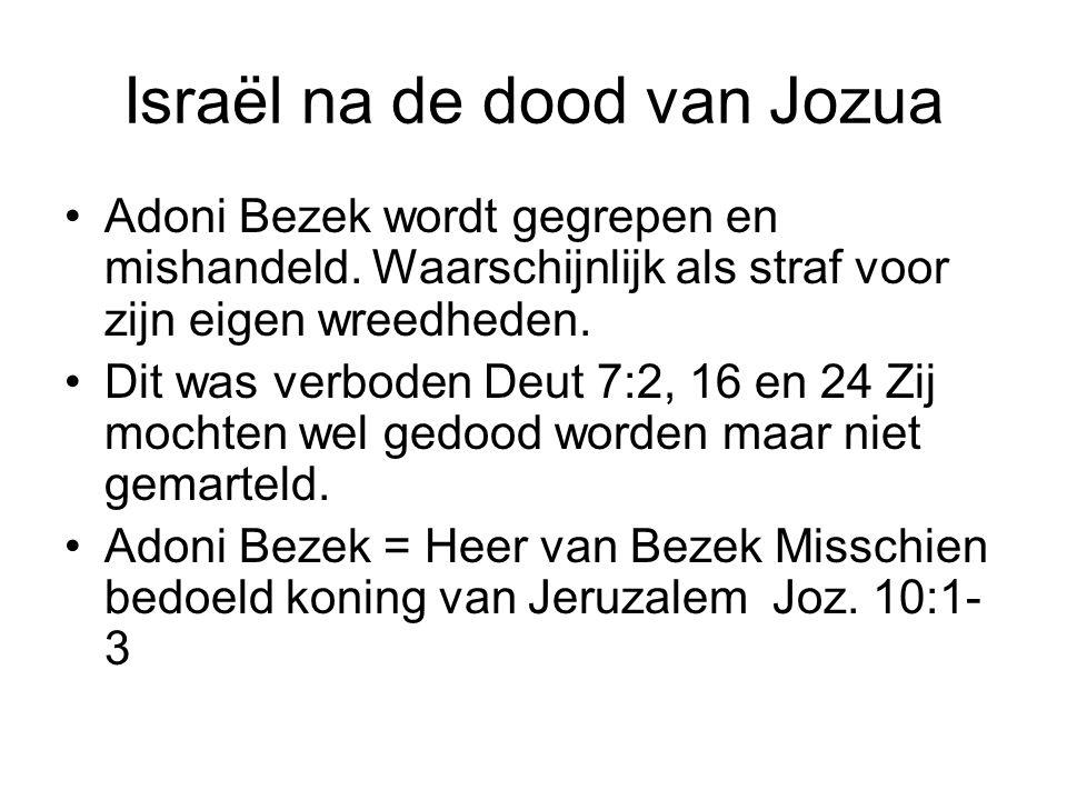 Israël na de dood van Jozua