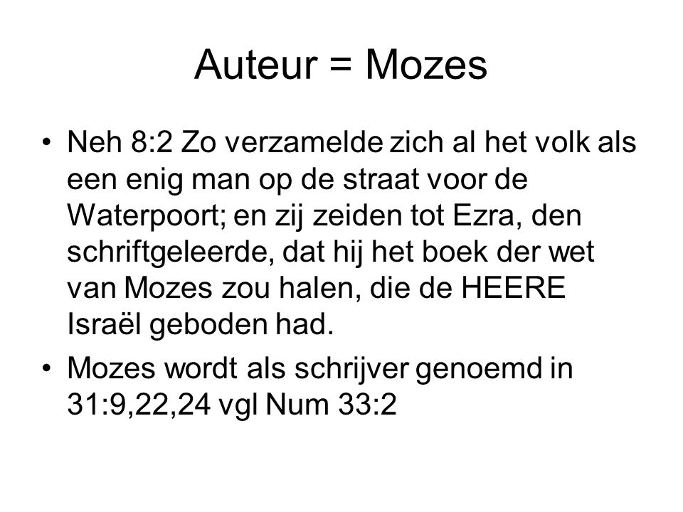Auteur = Mozes