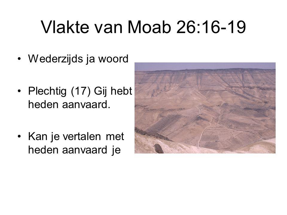 Vlakte van Moab 26:16-19 Wederzijds ja woord