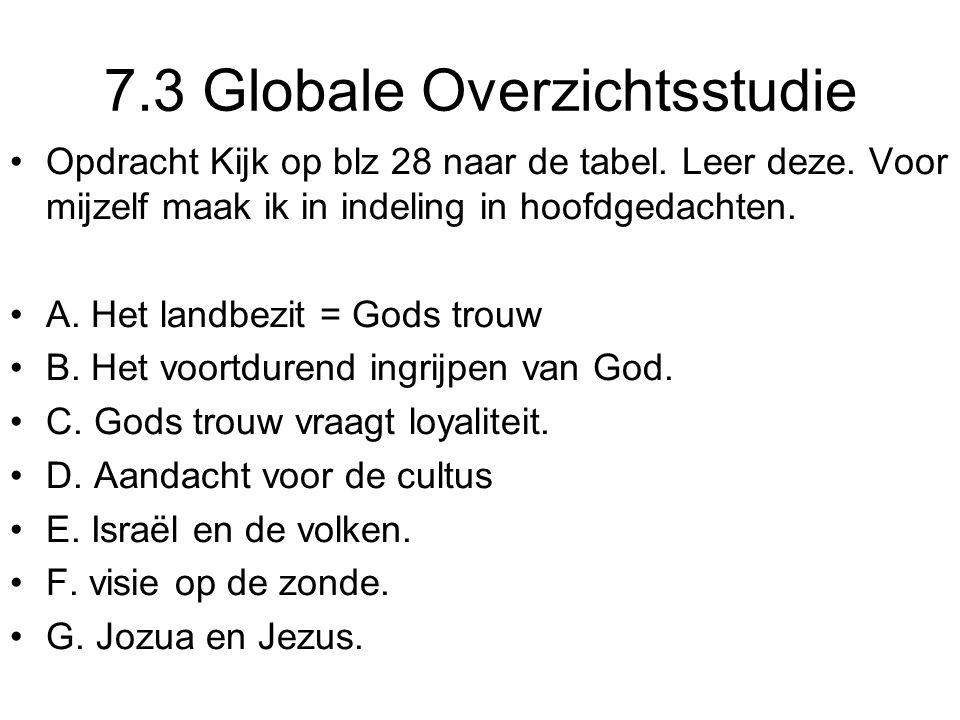 7.3 Globale Overzichtsstudie