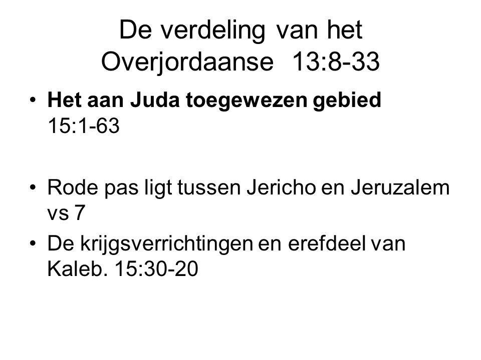 De verdeling van het Overjordaanse 13:8-33