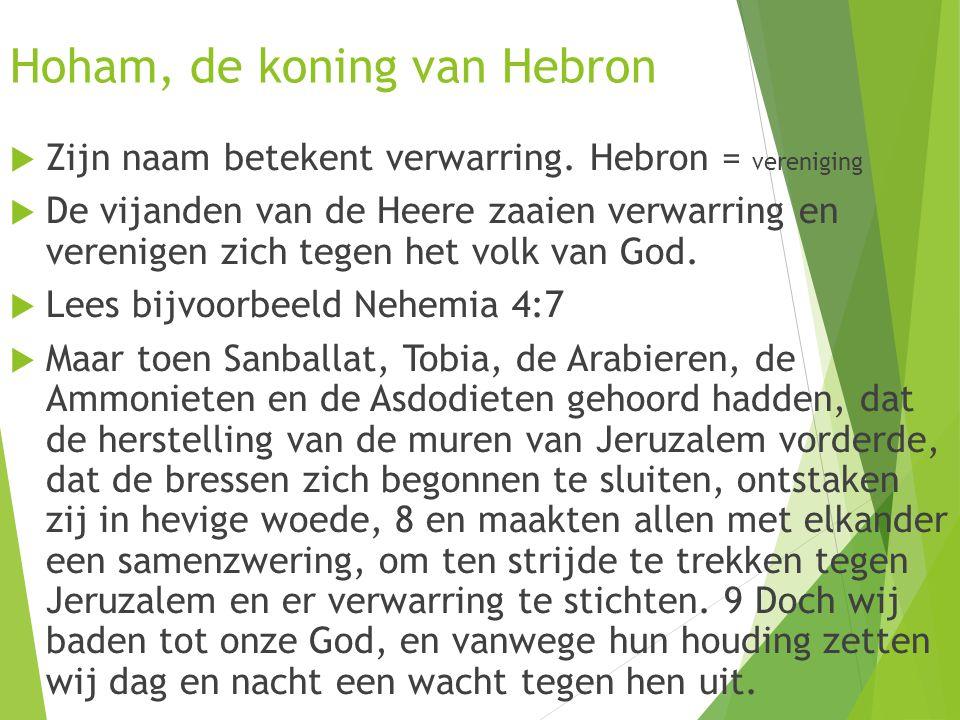 Hoham, de koning van Hebron