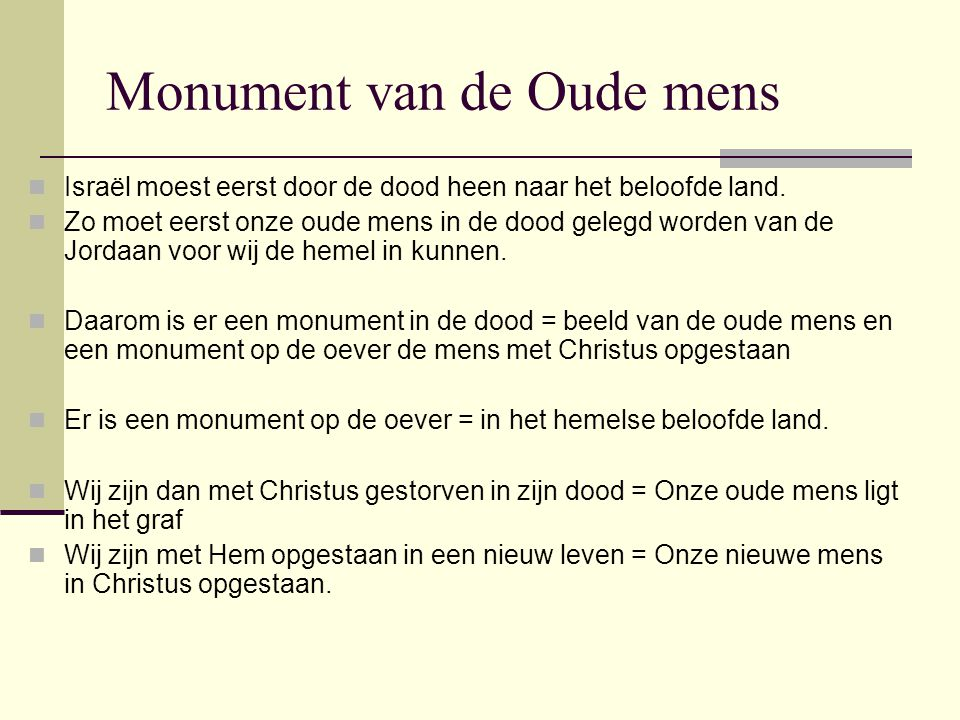 Monument van de Oude mens