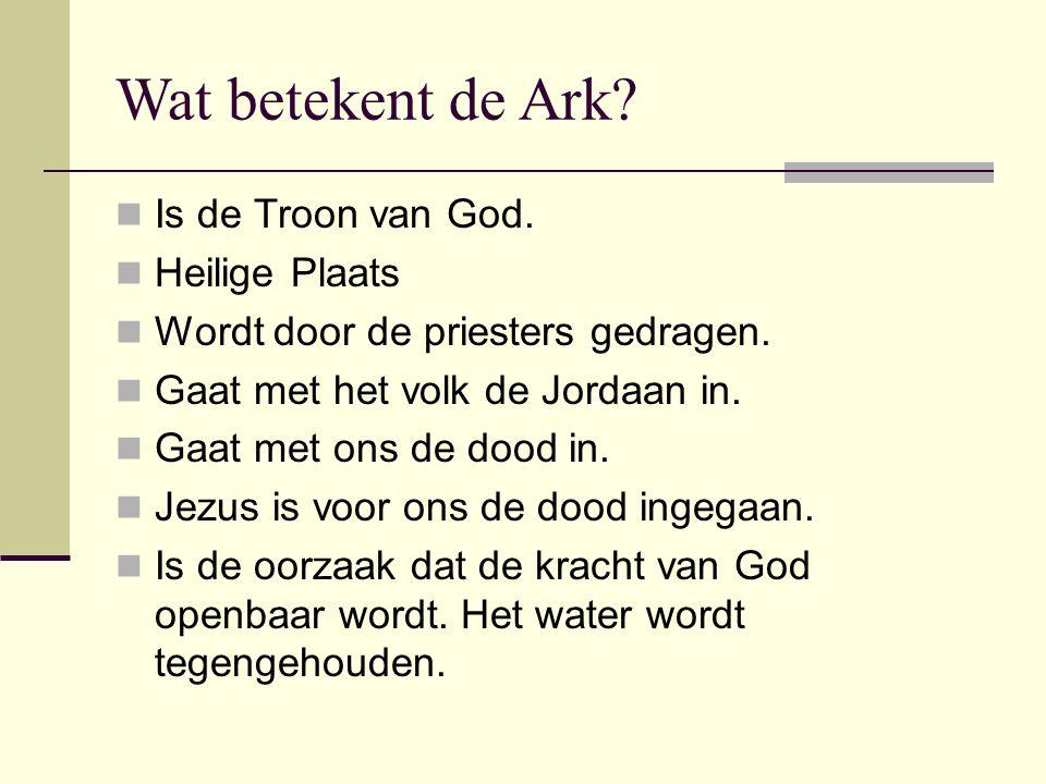 Wat betekent de Ark Is de Troon van God. Heilige Plaats