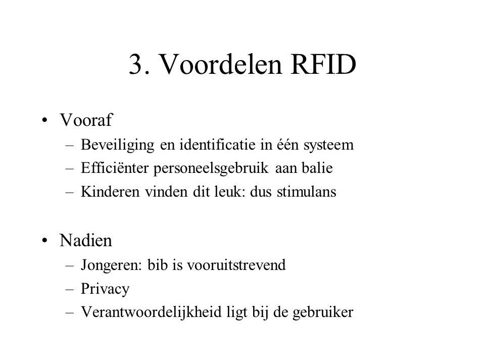 3. Voordelen RFID Vooraf Nadien