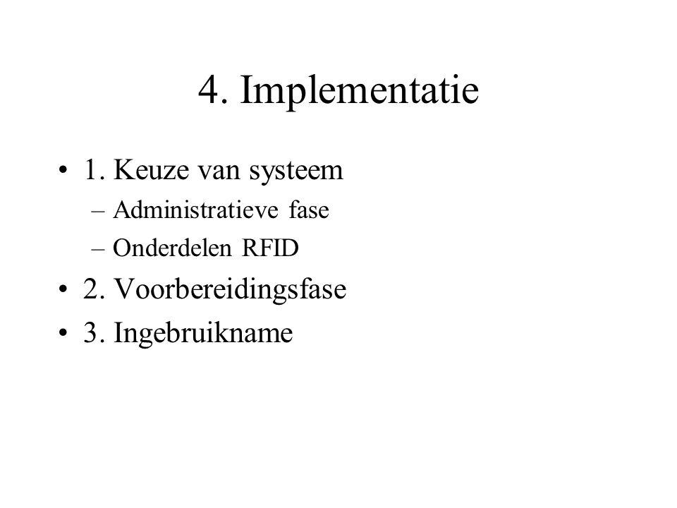 4. Implementatie 1. Keuze van systeem 2. Voorbereidingsfase